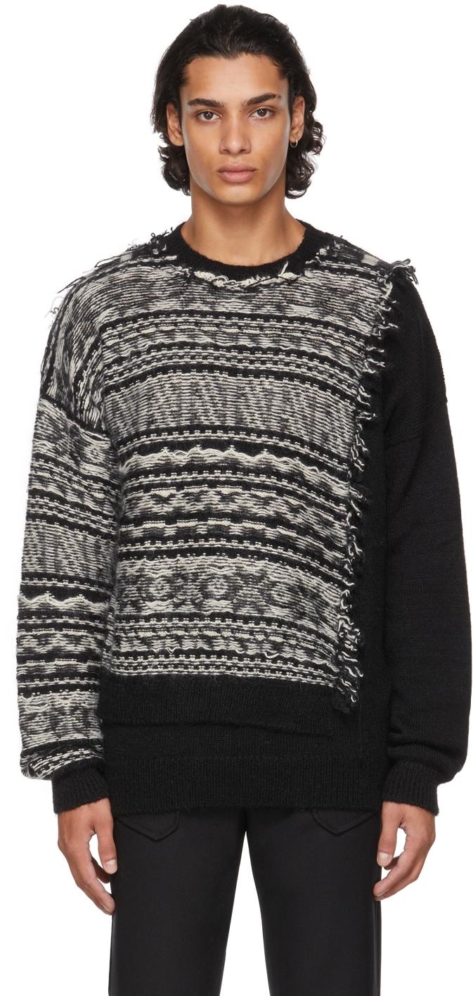 Black & White Patchwork Sweater