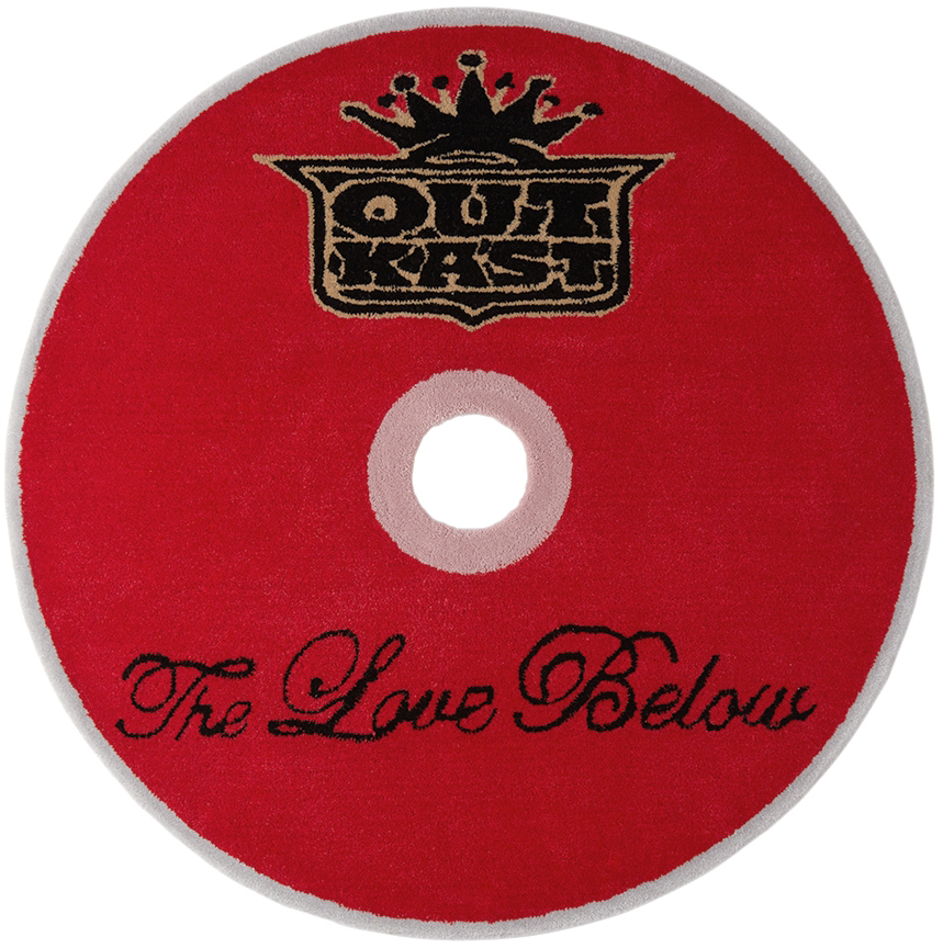 SSENSE Exclusive Red 'The Love Below' CD Rug