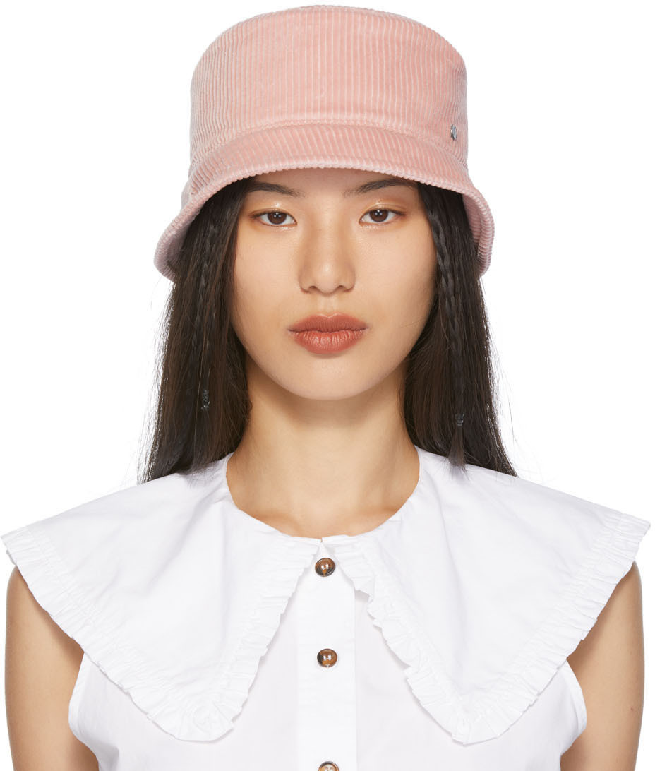 Pink Axel Corduroy Bucket Hat