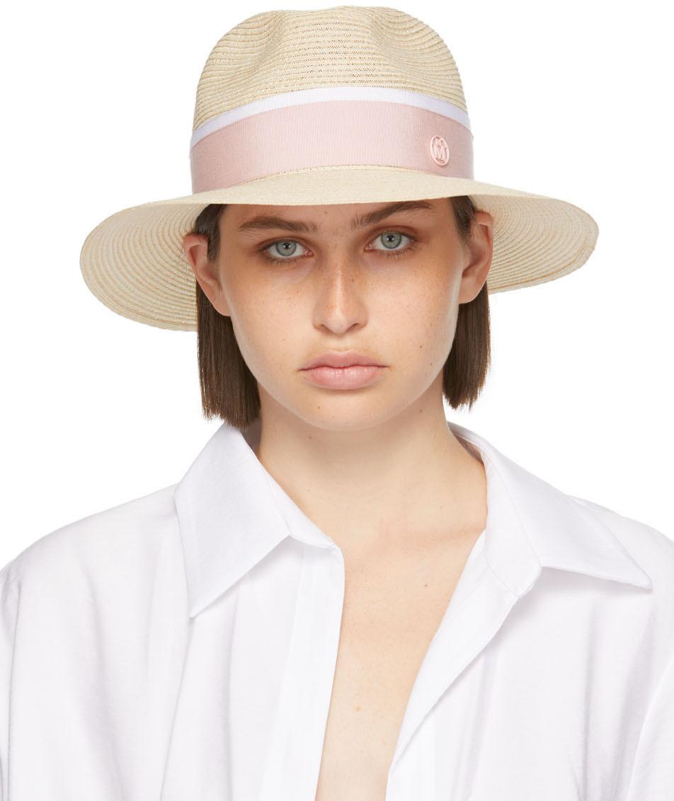 Beige Straw Henrietta Hat