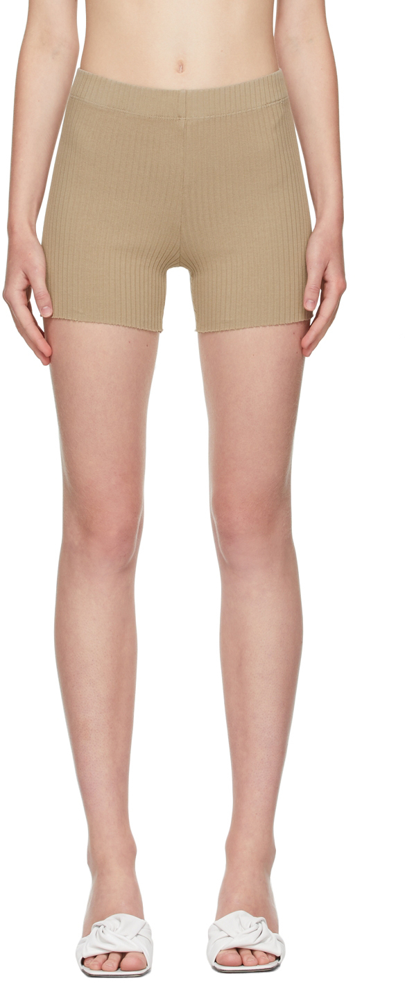 SSENSE Exclusive Taupe Ibiza Biker Shorts