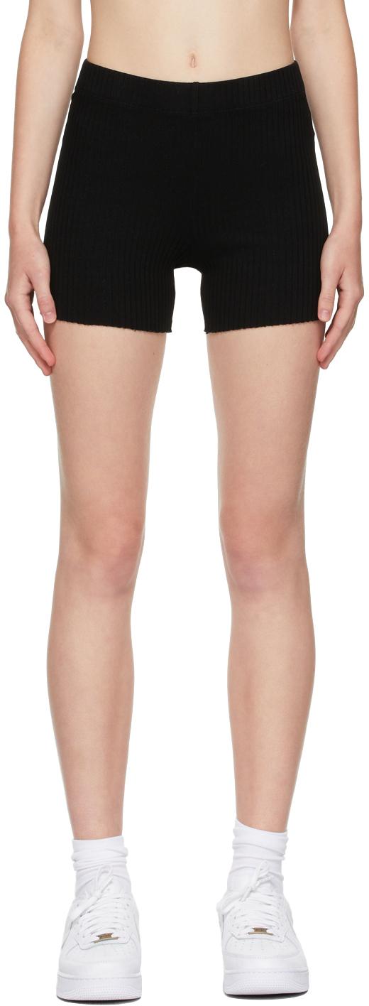 Black Ibiza Biker Shorts