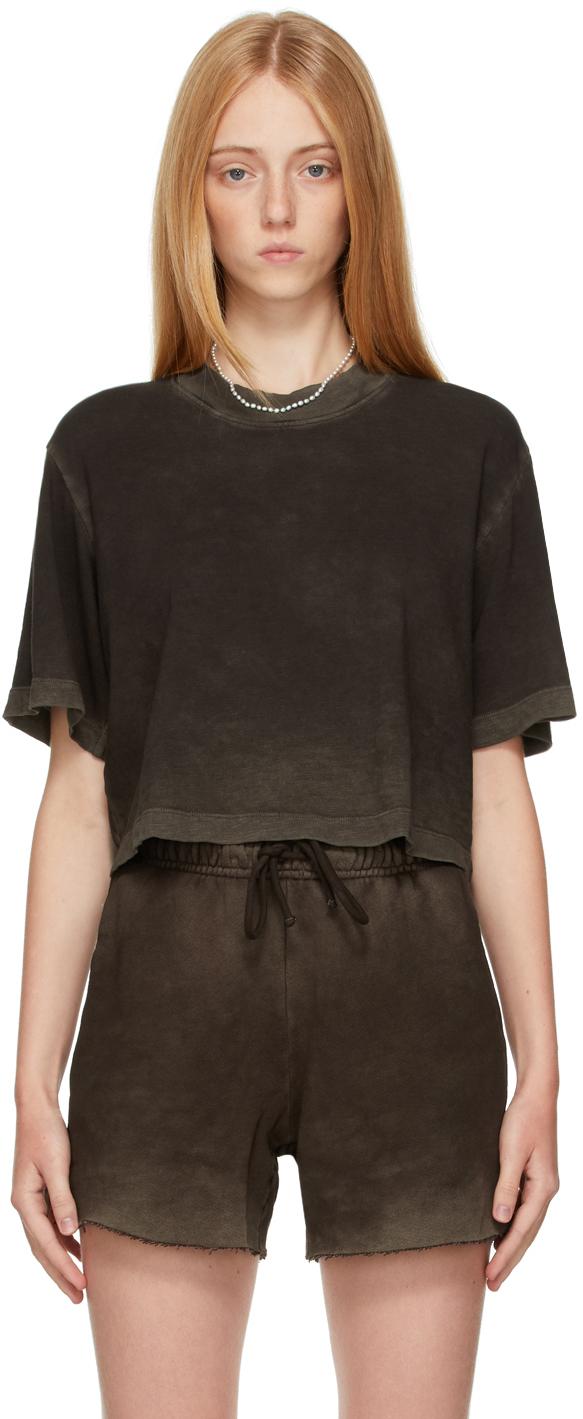 Brown Tokyo Crop T-Shirt