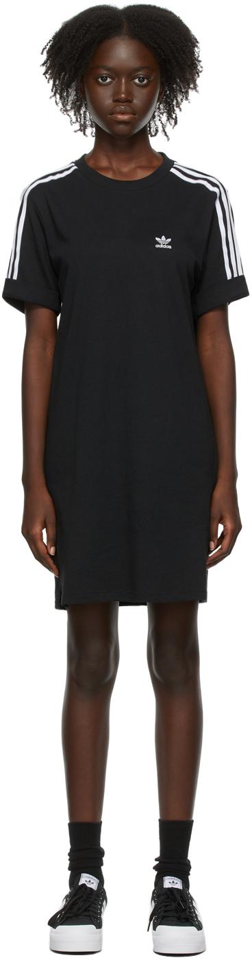 Black Adicolor Classics Roll-Up Sleeve Tee Dress