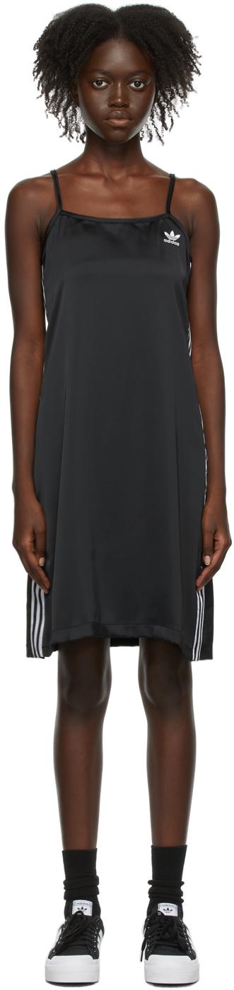 Black Satin Adicolor Classics Dress