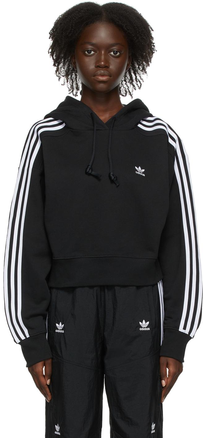 Black Adicolor Classics Crop Hoodie