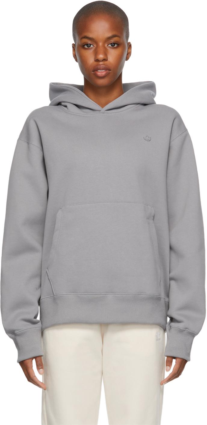 Grey Adicolor Trefoil Hoodie