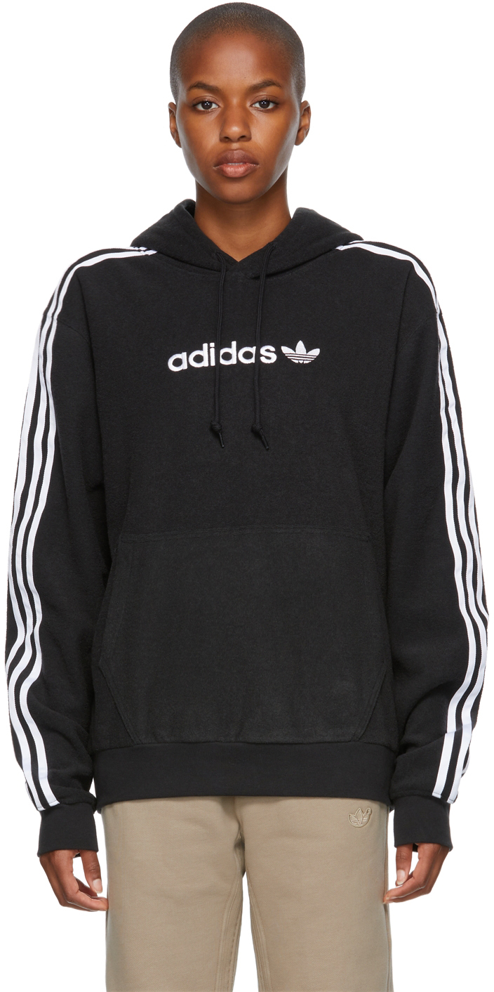 Black Comfort 3-Stripes Hoodie