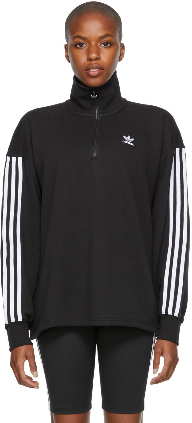 Black Adicolor Classics Half-Zip Sweatshirt