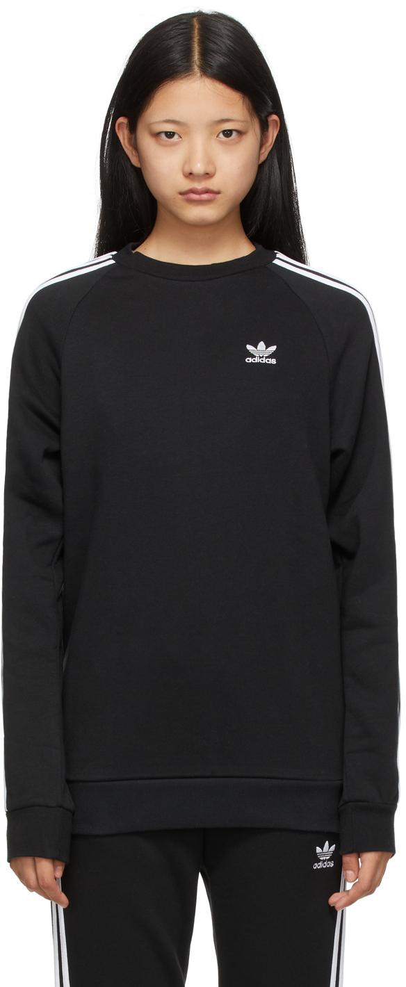 Black Adicolor Classics 3-Stripes Sweater