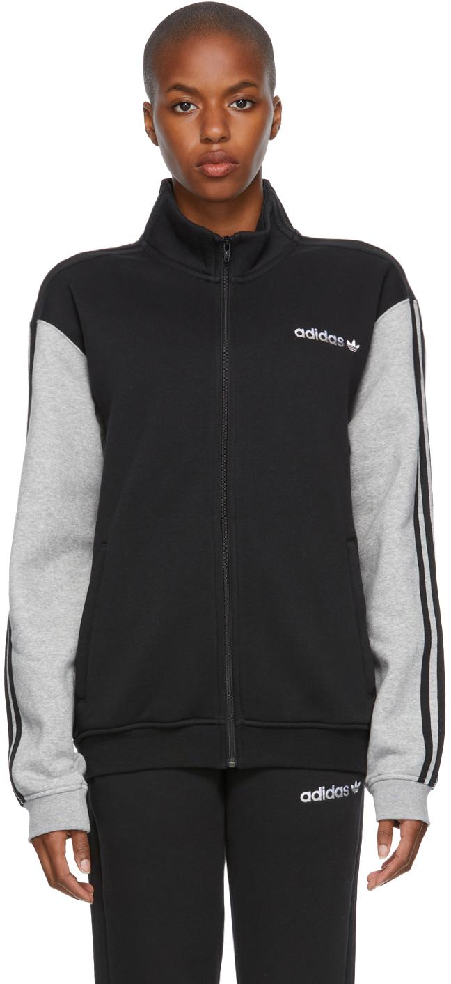 Black & Grey Fleece Firebird Track Jacket