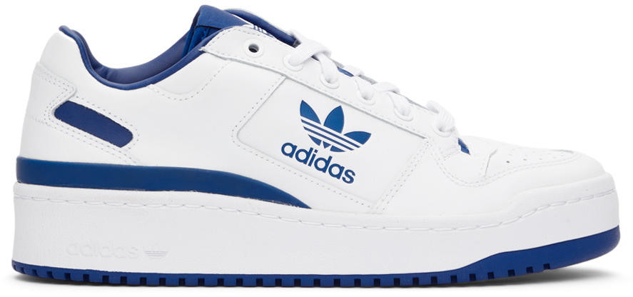 Blue & White Forum Bold Sneakers