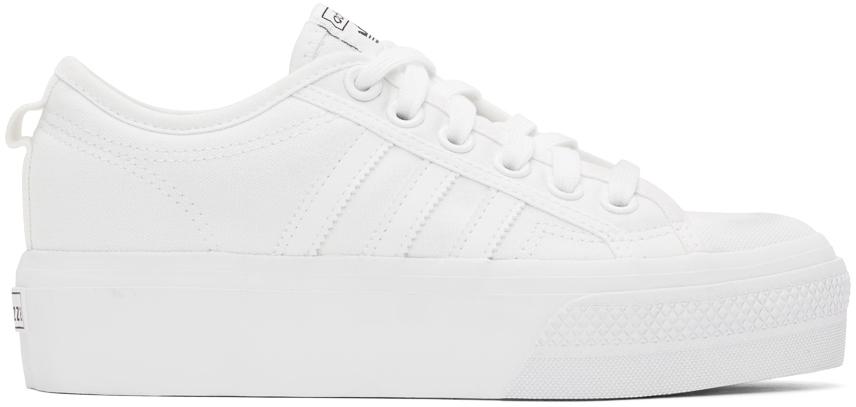 White Nizza Platform Sneakers