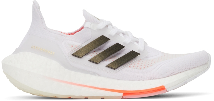 White & Red Ultraboost 21 Sneakers