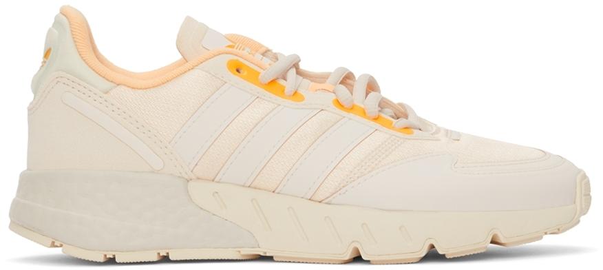 Beige & Orange ZX 1K Boost Sneakers