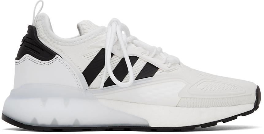White ZX 2K Boost Sneakers