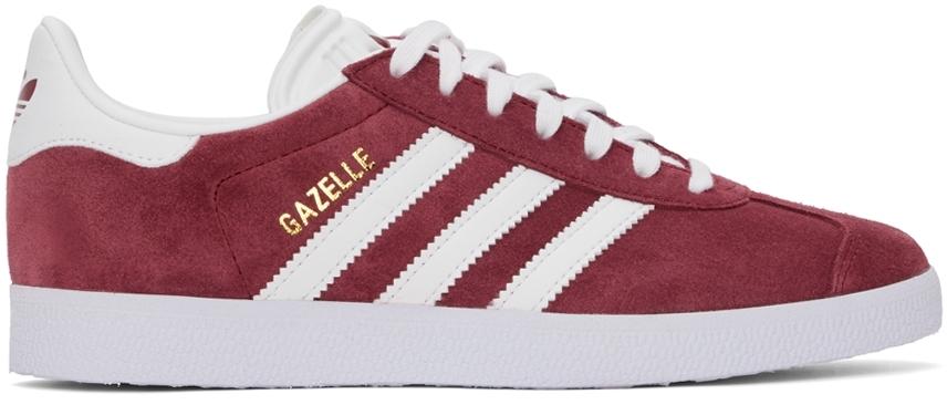 Burgundy Gazelle Sneakers