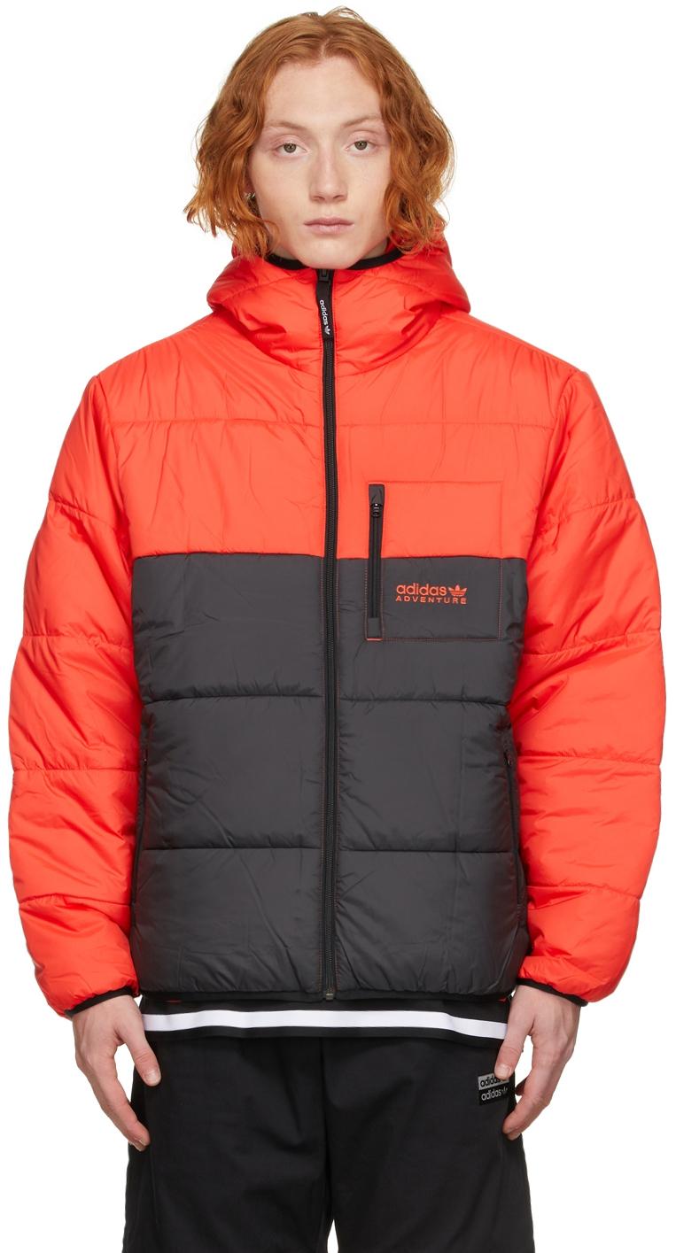 Reversible Red & Black Adventure Puffer jacket
