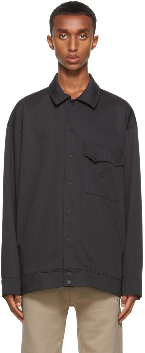 Black Twill Adicolor Jacket