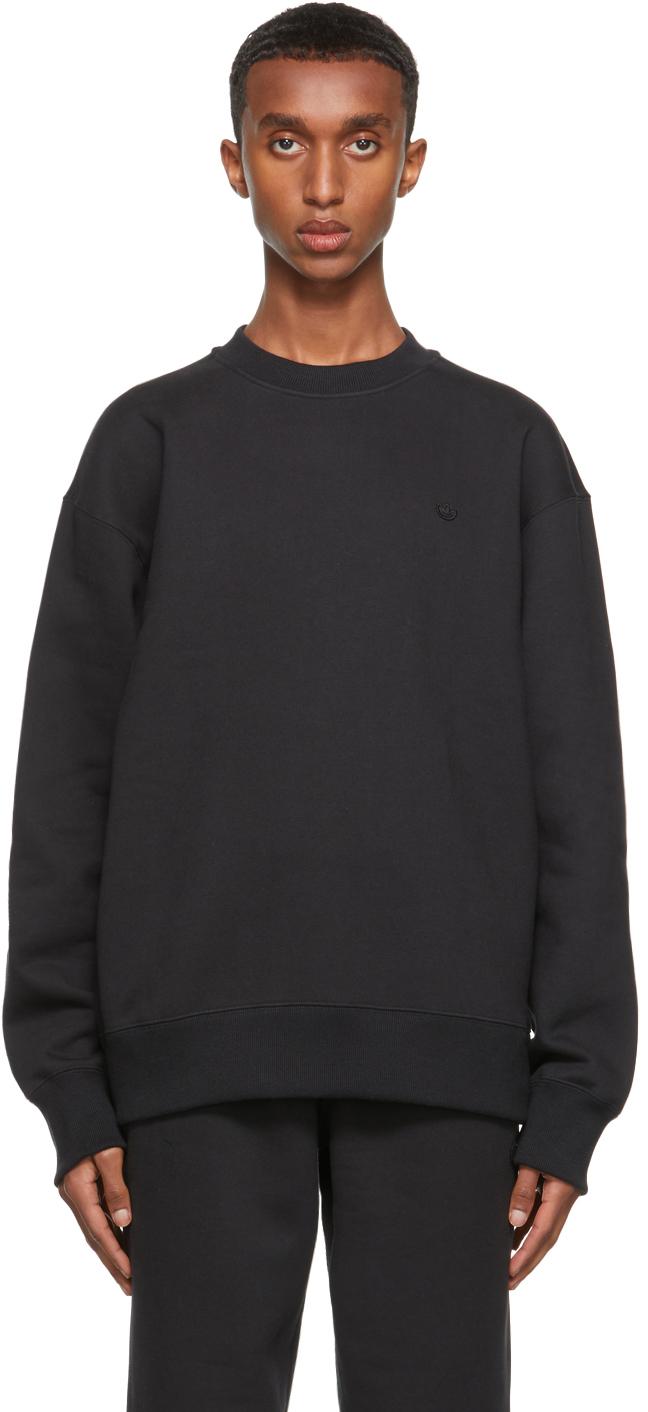 Black Adicolor Trefoil Crewneck Sweatshirt