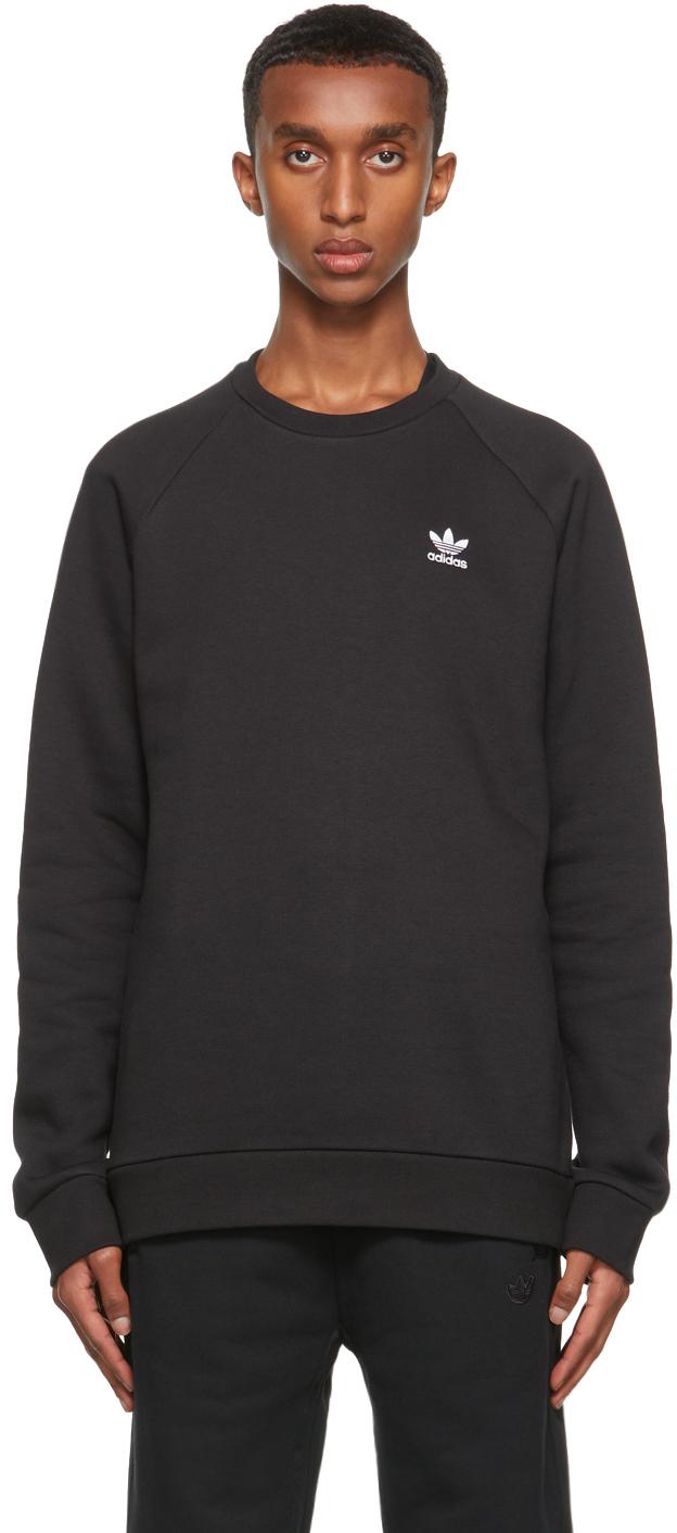 Black Adicolor Essentials Trefoil Sweatshirt