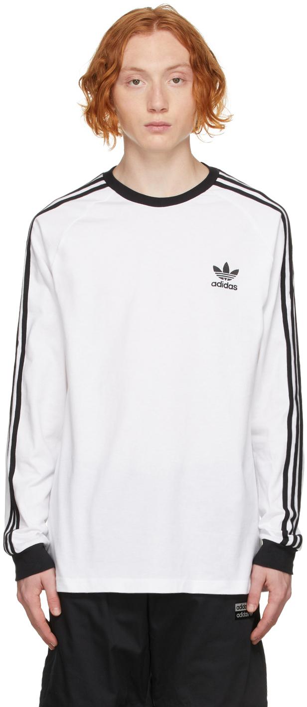 White Adicolor Classics 3-Stripes Long Sleeve T-Shirt