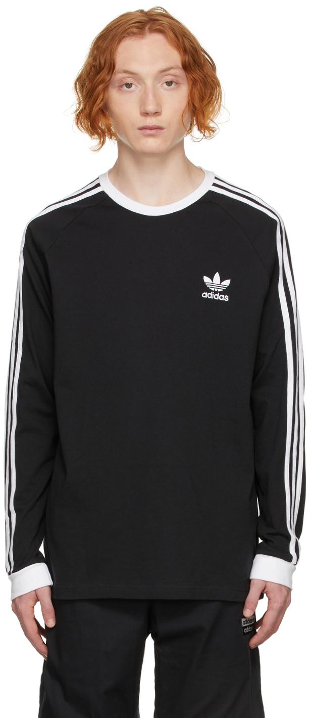 Black Adicolor Classics 3-Stripes Long Sleeve T-Shirt