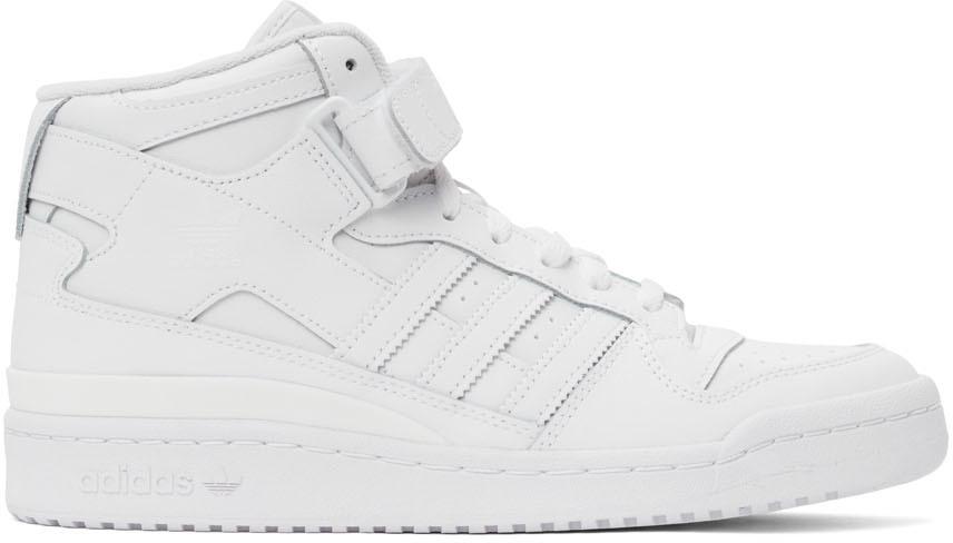 White Forum Mid Sneakers