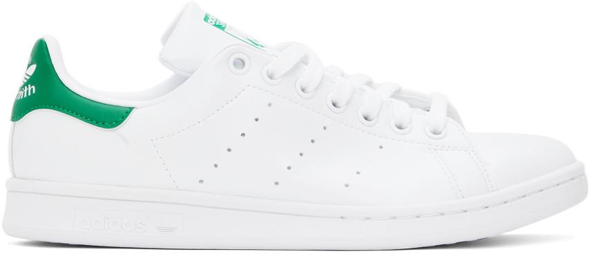 White & Green Stan Smith Sneakers