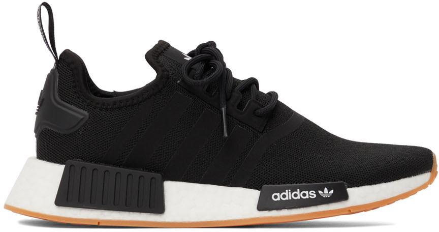 Black & White Primeblue NMD_R1 Sneakers