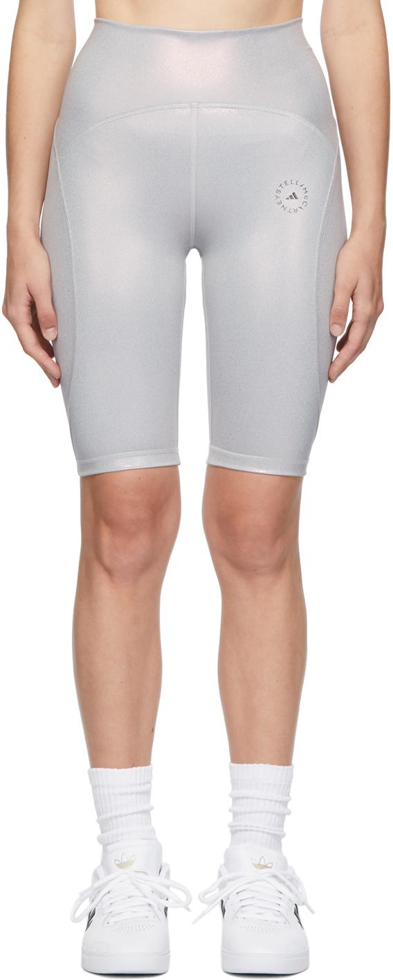Purple Shiny Cycling Shorts