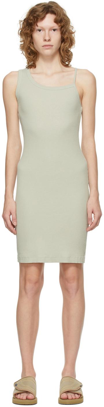 Grey Rib Asymmetrical Cami Dress