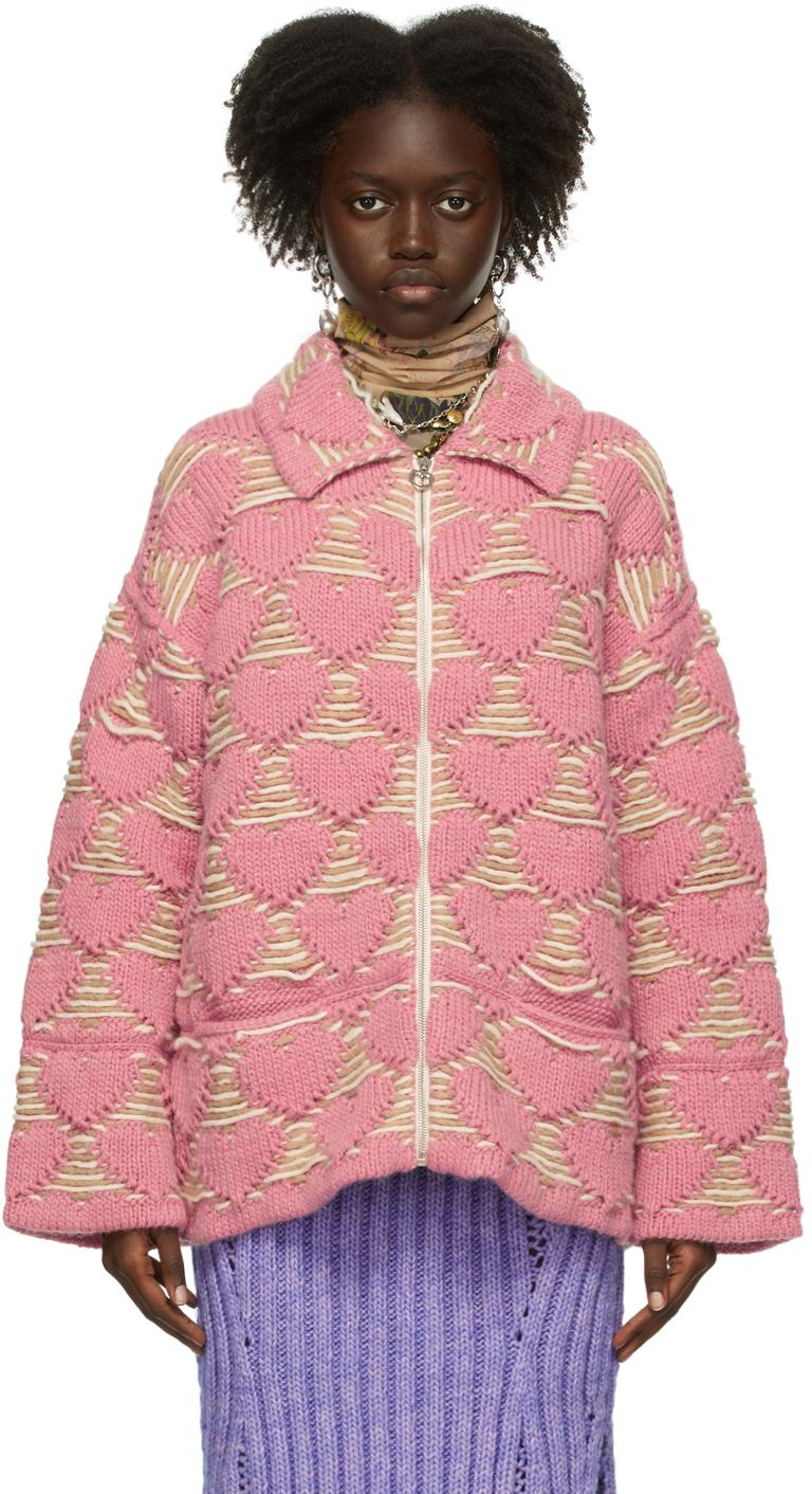 Pink Wool Heart Jacket