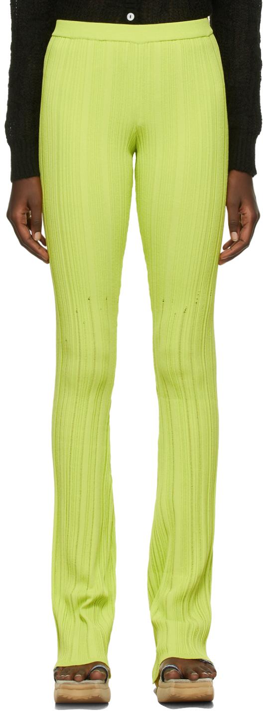 SSENSE Exclusive Green Viscose Knit Lounge Pants