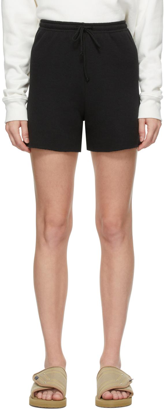 Black Vintage Fleece Venice Shorts