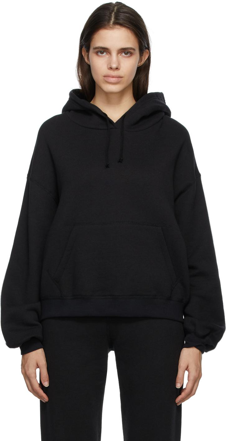 Black Vintage Fleece Hoodie