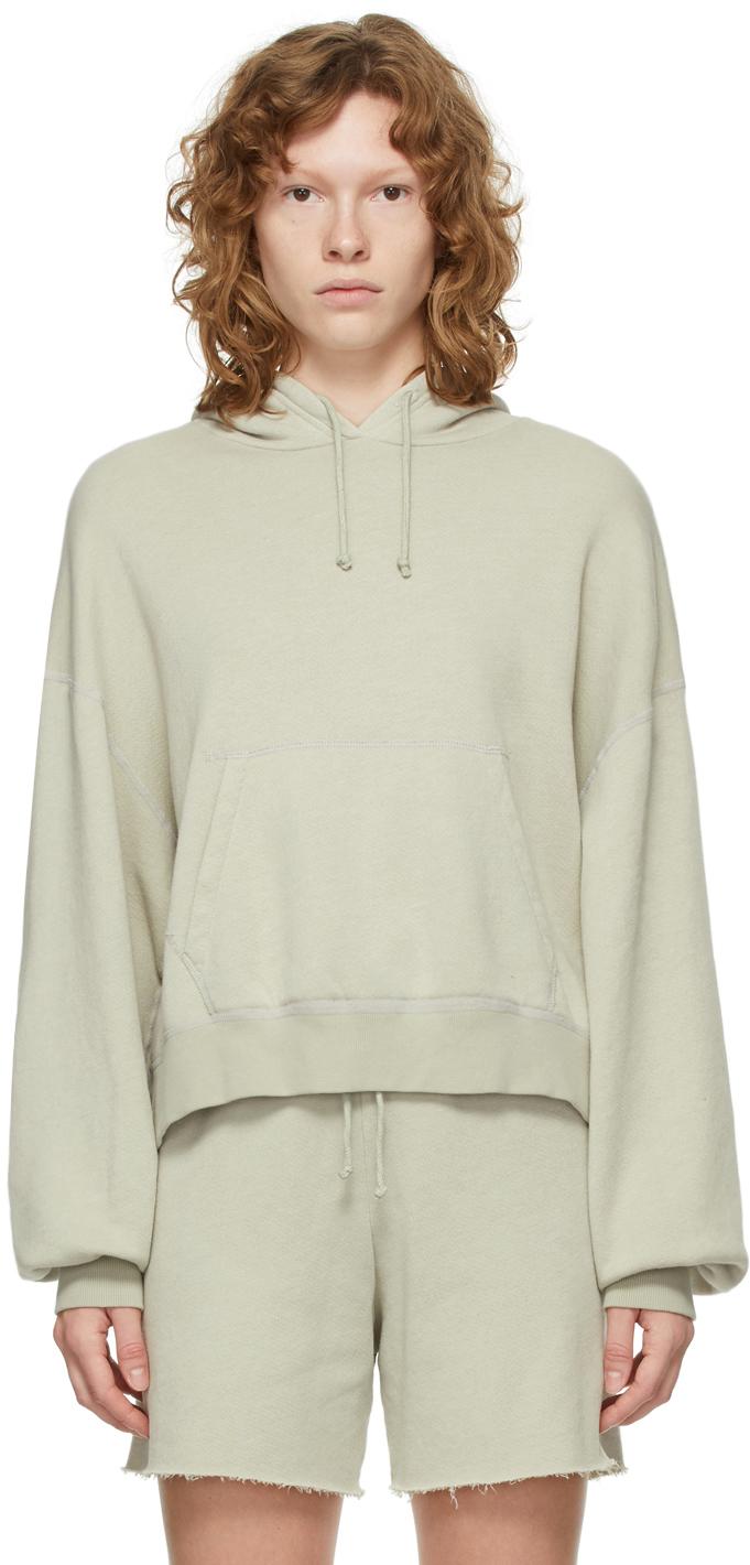 Grey Vintage Fleece Hoodie