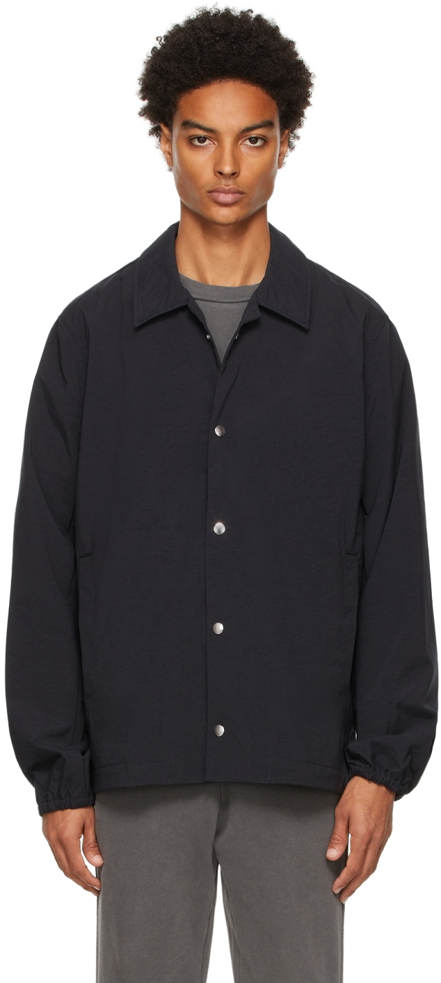 Black Nylon Coach's Jacket