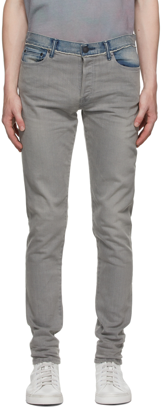 Grey & Blue Paneled 'The Cast 2' Jeans