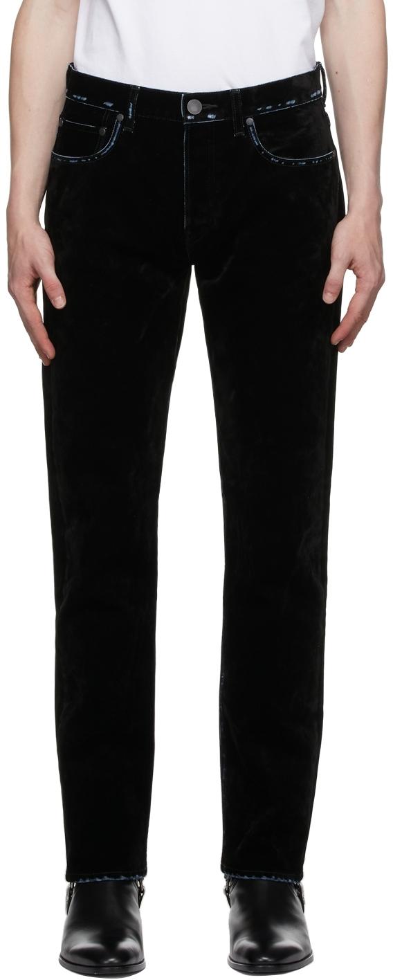 Black Flocked 'The Daze Crush' Jeans