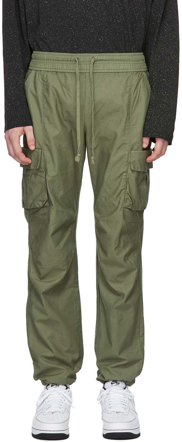 Green Back Sateen Cargo Pants