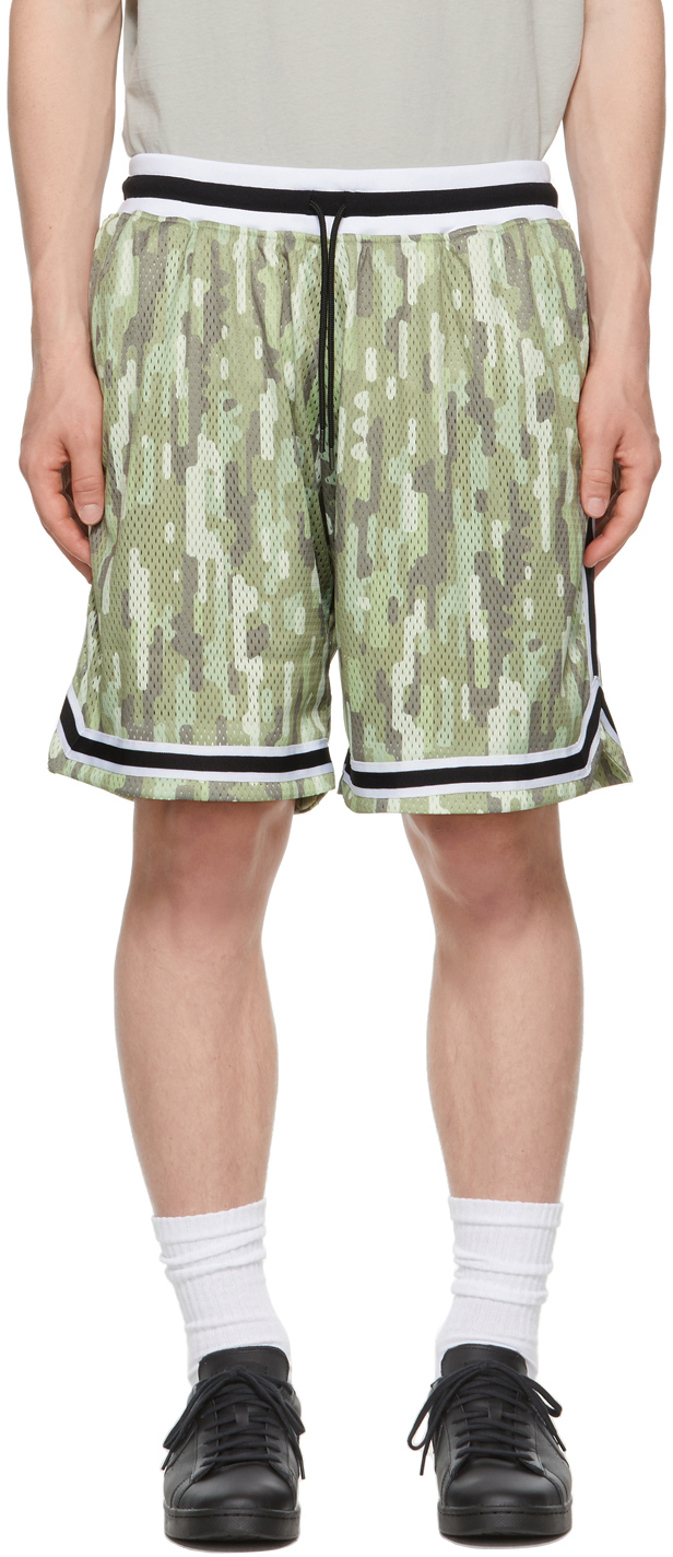 Khaki & Taupe Camo Game Shorts