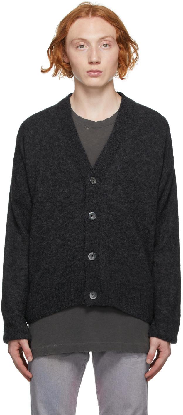 Black Wool Powder Cardigan