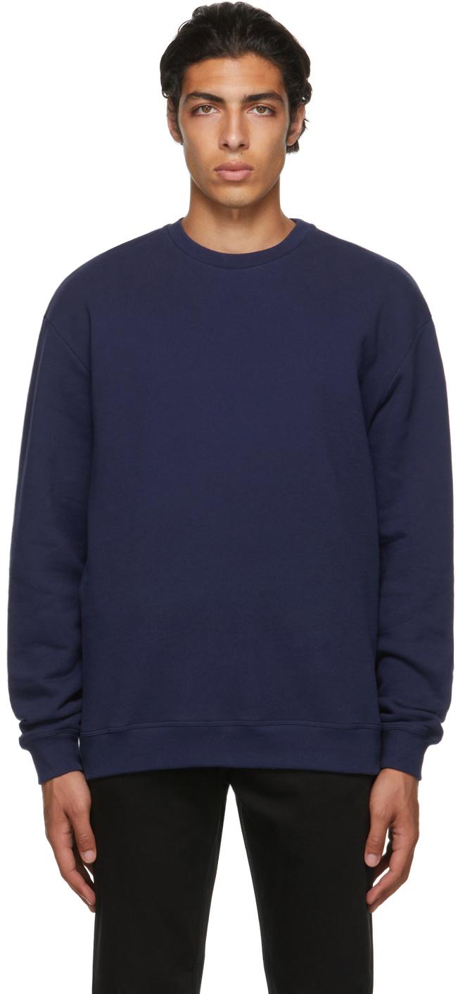 Navy Oversized Pullover Sweatshirt