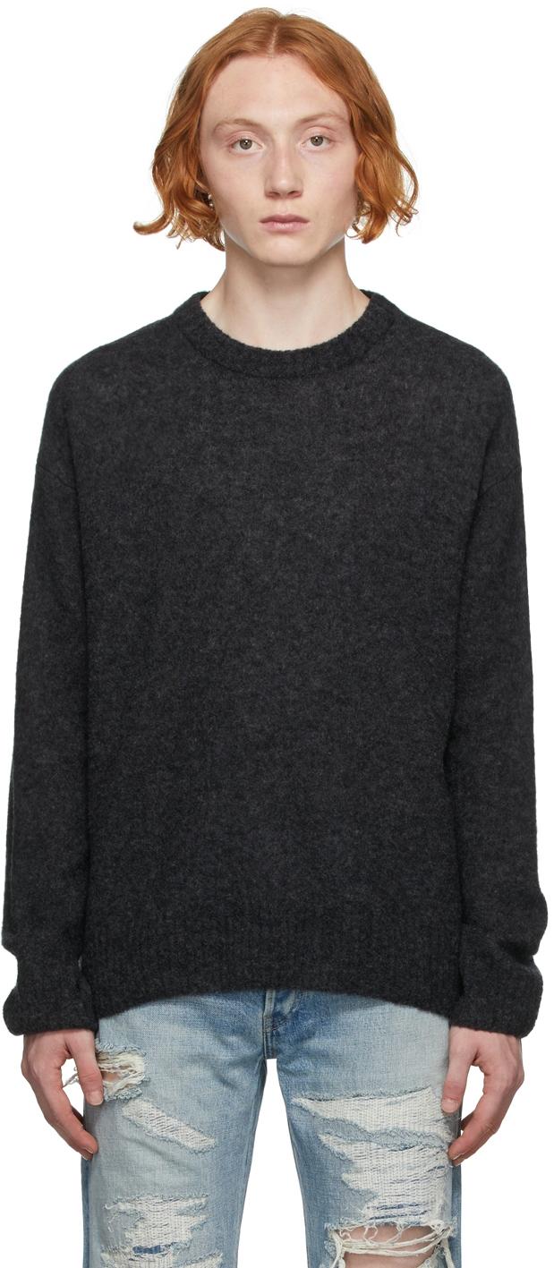 Black Wool Powder Sweater