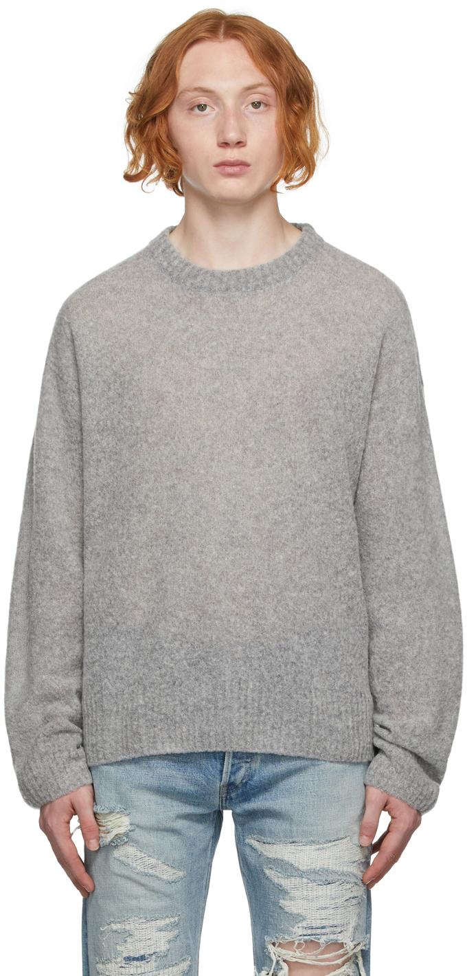 Grey Wool Powder Sweater