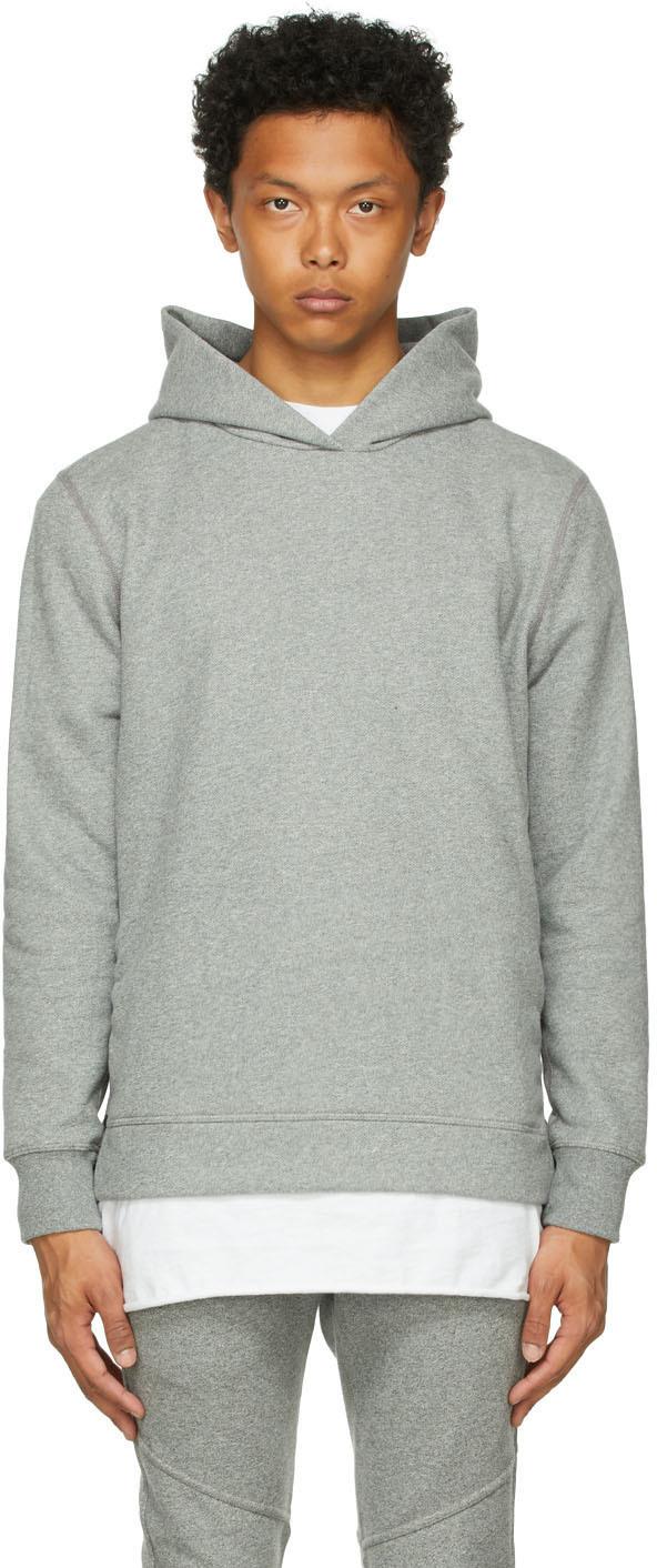 Grey Side-Zip Villain Hoodie