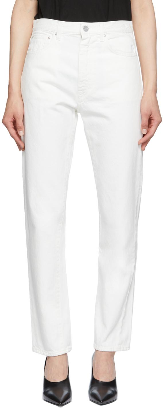 Totême Off-white Original Jeans In 110 Off-white
