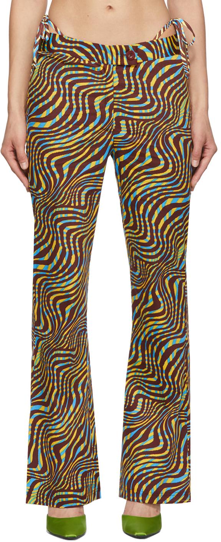 Brown Zebra Print Disco Lounge Pants