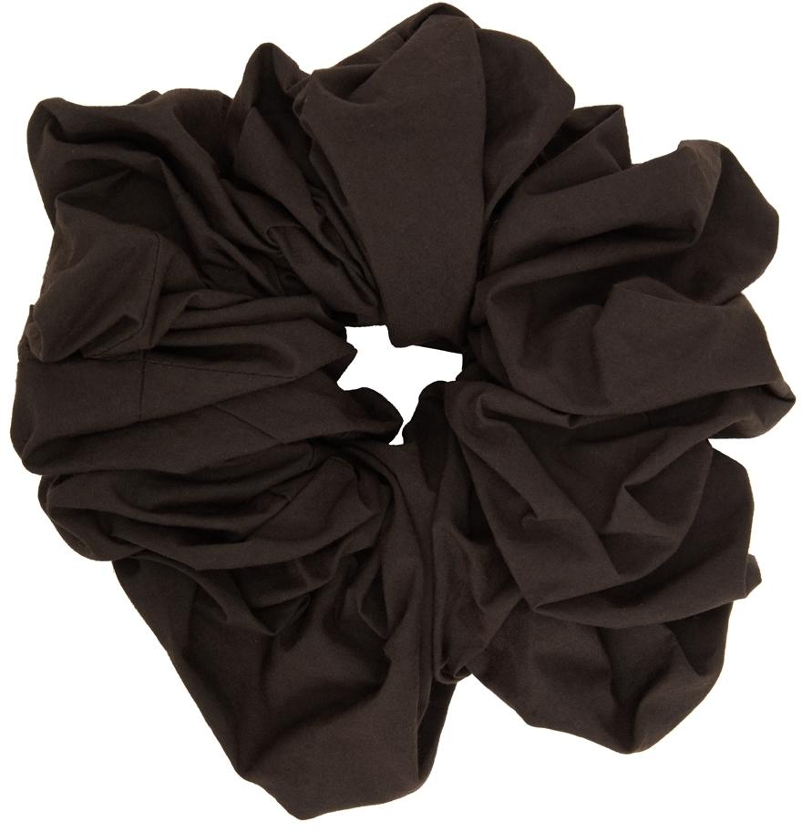 SSENSE Exclusive Brown Camellia Scrunchie